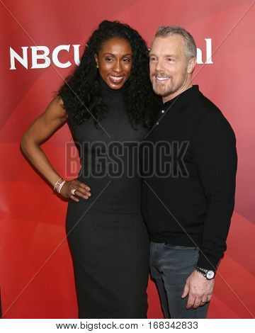 LOS ANGELES - JAN 17:  Latreal Mitchell, Gunner Peterson at the NBC/Universal Cable TCA Winter 2017 at Langham Hotel on January 17, 2017 in Pasadena, CA