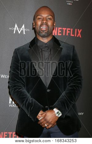LOS ANGELES - JAN 8:  Corey Gamble at the Weinstein And Netflix Golden Globes After Party at Beverly Hilton Hotel Adjacent on January 8, 2017 in Beverly Hills, CA
