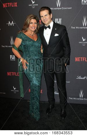 LOS ANGELES - JAN 8:  Elizabeth Webster, Vincent De Paul at the Weinstein And Netflix Golden Globes After Party at Beverly Hilton Hotel Adjacent on January 8, 2017 in Beverly Hills, CA