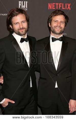 LOS ANGELES - JAN 8:  Matt Duffer, Ross Duffer at the Weinstein And Netflix Golden Globes After Party at Beverly Hilton Hotel Adjacent on January 8, 2017 in Beverly Hills, CA