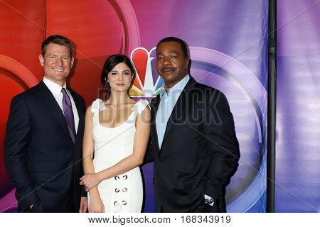 LOS ANGELES - JAN 18:  Philip Winchester, Monica Barbarao, Carl Weathers at the NBC/Universal TCA Winter 2017 at Langham Hotel on January 18, 2017 in Pasadena, CA