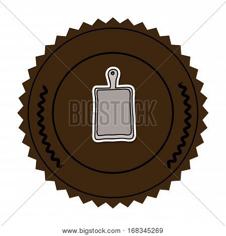 color round frame with chopping board vector illustration