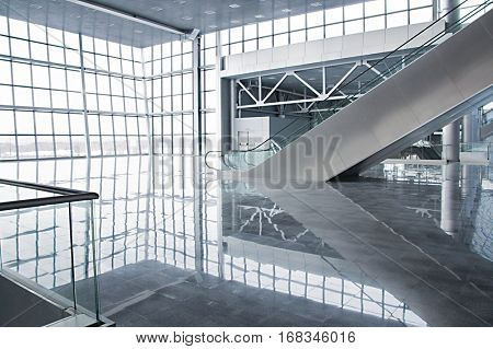 empty room of modern office building