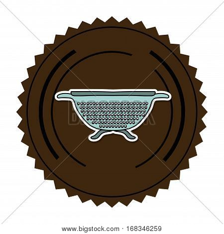 color round frame with kitchen drainer vector illustration