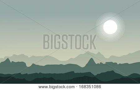 Landscape of desert vector art collection stock