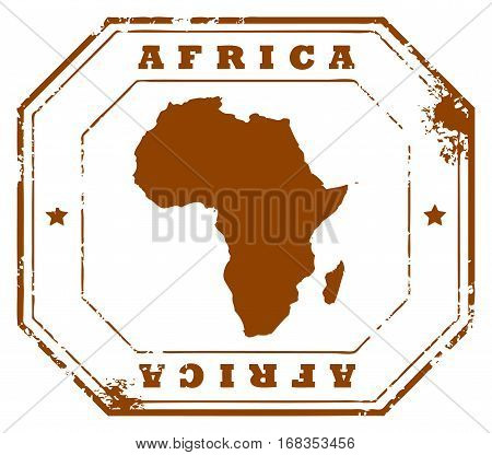Grunge rubber stamp with the text Africa written inside the stamp