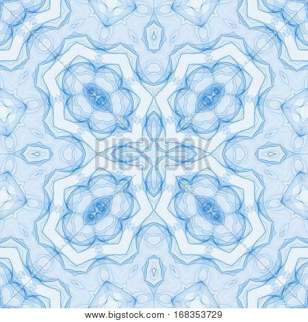 illustration of abstract blue background with concentric pattern