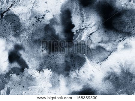 Hand painted ink seamless pattern with abstract galaxy space sky smoke.