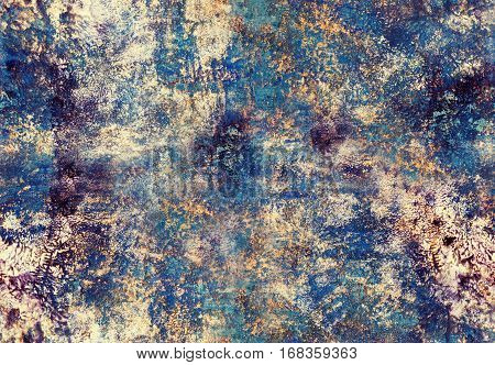 Hand painted acrylic seamless pattern with abstract brushstrokes. Art painting. Grunge texture for textiles packaging greeting cards scrapbooking.