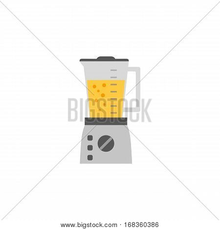 Kitchen appliance isolated on white. Electric juice blender. Home food processor juicer machine. Flat style vector illustration of household blending device. Mixer fresh drink kitchenware equipment