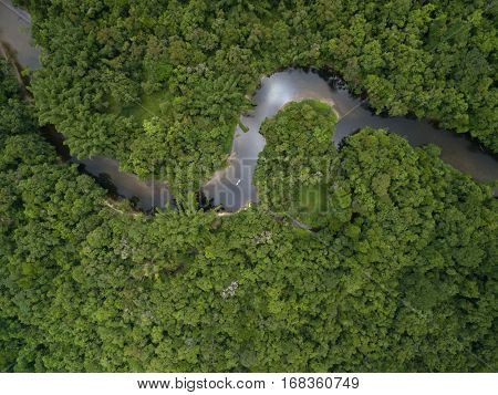 Top View of Amazon River, Brazil