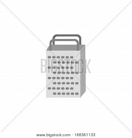 Grater icon. Kitchenware cooking utensils isolated on white. Freehand drawn cartoon cute fancy style. Kitchen tool symbol for grating product. Design vector element of home food preparation process