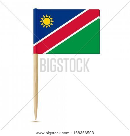 Flag of Namibia. Flag toothpick on white background 10eps