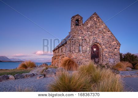 The Church Of The Good Shepherd At Lake Tekapo In New Zealand