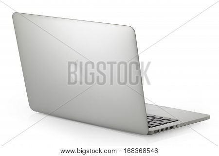 Koszalin, Poland- February 03, 2017: Apple MacBook Pro laptop computer by Apple Inc. on a white background. This MacBook Pro has a 13,3-inch antiglare widescreen display