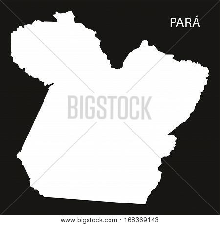 Para Brazil Map black inverted silhouette illustration