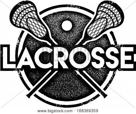 Vintage Lacrosse Sport Stamp
