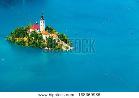 Panoramic View Of Bled Lake, Slovenia
