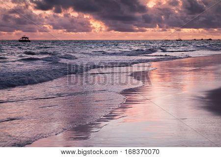 Bavaro Beach, Hispaniola Island.sunrise