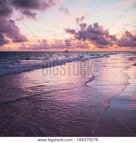 Sunrise Over Atlantic Ocean, Bavaro