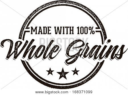 Made with Whole Grains Food Product Label