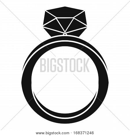 Wedding ring icon. Simple illustration of wedding ring vector icon for web