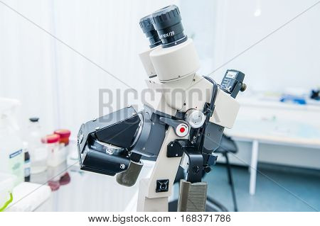 Colposcope With Digital Camera In Gynecological Room