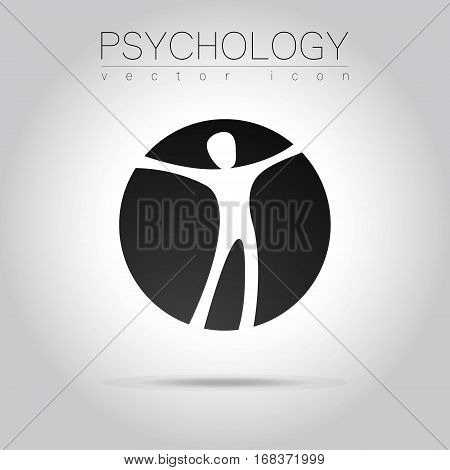 Modern man Logo Sign of Psychology. Human in a circle. Creative style. Icon in vector. Design concept.