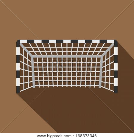 Football or soccer gate icon. Flat illustration of football or soccer gate vector icon for web   on coffee background