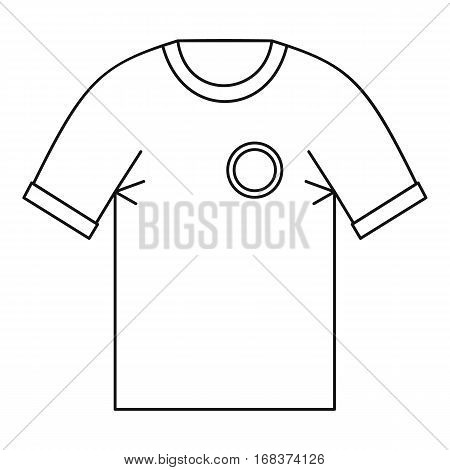 T shirt uniform team icon. Outline illustration of t shirt uniform team vector icon for web