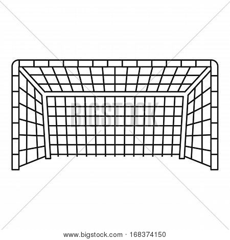 Soccer goal icon. Outline illustration of soccer goal vector icon for web