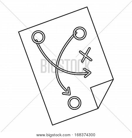 Football tactic icon. Outline illustration of football tactic vector icon for web