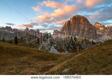 Tofana In The Dolomite Alps