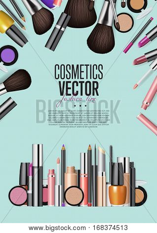 Cosmetics Products Vector Photo Free Trial Bigstock
