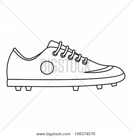 Soccer boot icon. Outline illustration of soccer boot vector icon for web