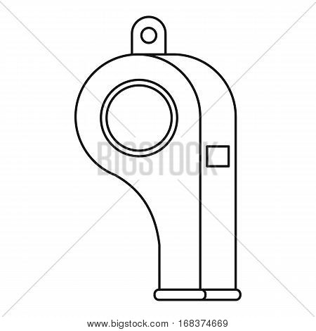 Sport whistle icon. Outline illustration of sport whistle vector icon for web