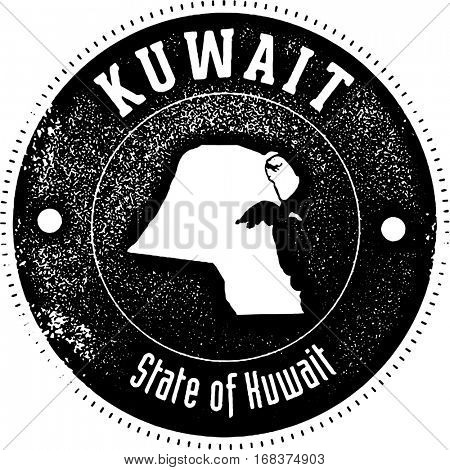 Kuwait Vintage Style Country Stamp
