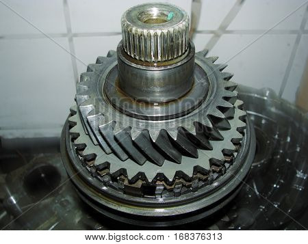 Repair manual transmission car gear Volkswagen Golf