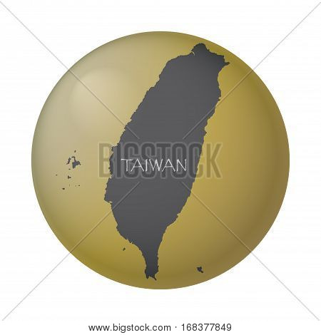 A Taiwan gold coin isolated on a white background