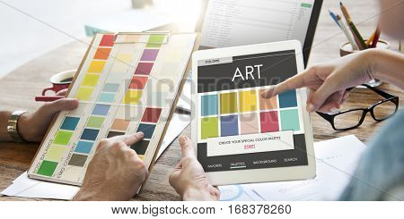 Color Shade Design Colorful Palette Concept