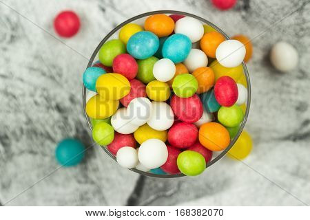 A Colorful Mix Of Sweet Candies