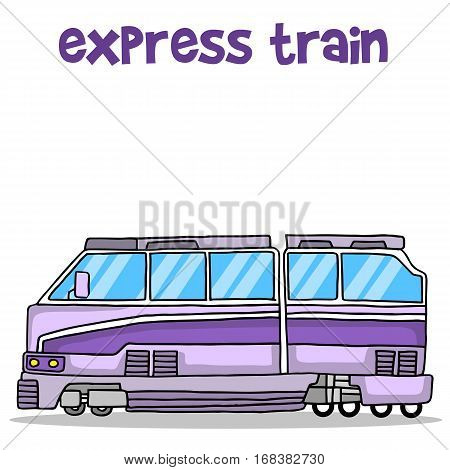 Transport of express train collection vector illustration