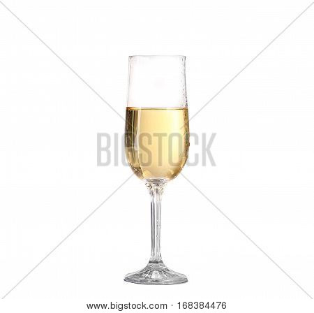 Wineglass With White Wine. Concept And Idea