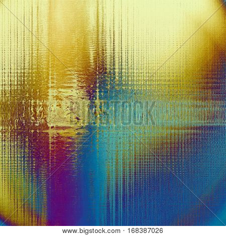 Highly detailed grunge background or scratched vintage texture. With different color patterns: yellow (beige); brown; blue; red (orange); purple (violet); cyan