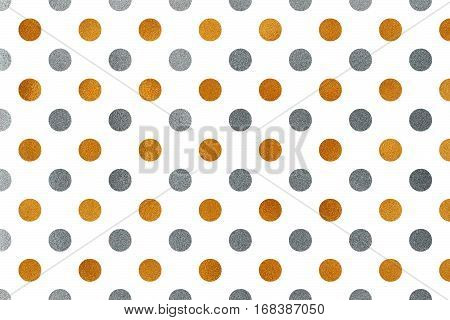 Abstract Pattern With Hand Painted Golden And Silver Texture.
