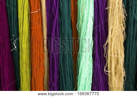Multicolors Thread Silks Dye From Natural Color Material For Woven Silk Handicraft