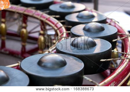 Thai Band And Music Instrument, Thai Xylophone.