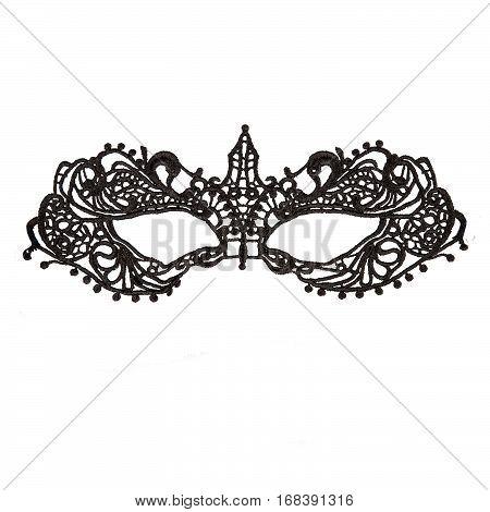 Iron woman masquerade half-mask on white background