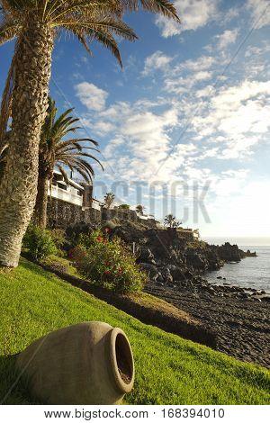 Tenerife coastline of of Las Teresitas beach