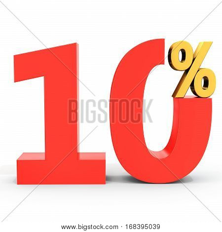 Red Sale Discount 10 Percent